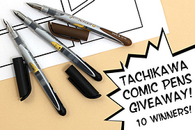 Pen Perks: Tachikawa Comic Pens Giveaway - 10 Winners!