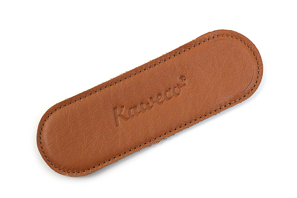 Kaweco Eco Leather Pouch - Liliput 2 Pens - Cognac Brown - KAWECO 10000710