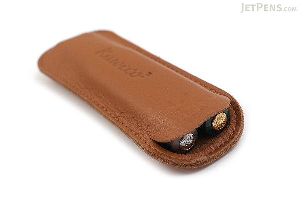 Kaweco Eco Leather Pouch - 2 Sport Pens - Cognac Brown - KAWECO 10000706