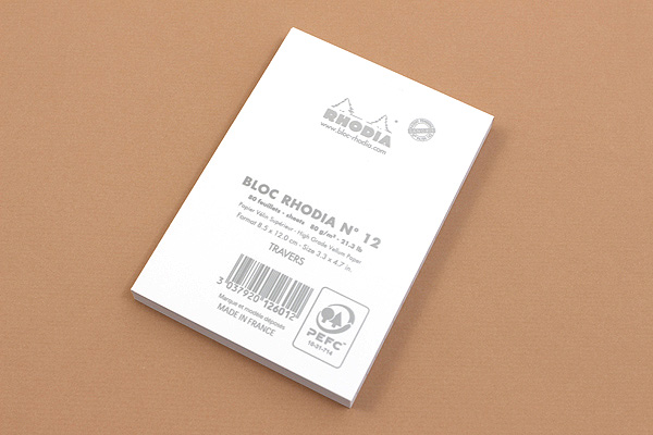 "Rhodia Ice Pad No. 12 - 3.3"" x 4.7"" - Lined - RHODIA 12601W"