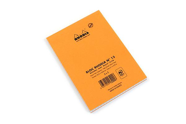 Rhodia Pad No. 13 - A6 - Graph - Orange - RHODIA 13200