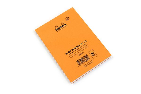 Rhodia Pad No. 13 - A6 - Lined - Orange - RHODIA 13600