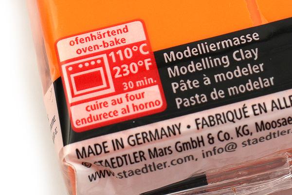 Staedtler FIMO Professional Modeling Clay - Orange - STAEDTLER 8004-4