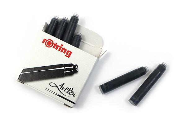 Rotring ArtPen Ink Cartridge - Black - Pack of 6 - ROTRING S0194751