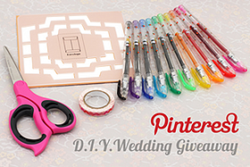 Pen Perks: Pinterest D.I.Y. Wedding Giveaway