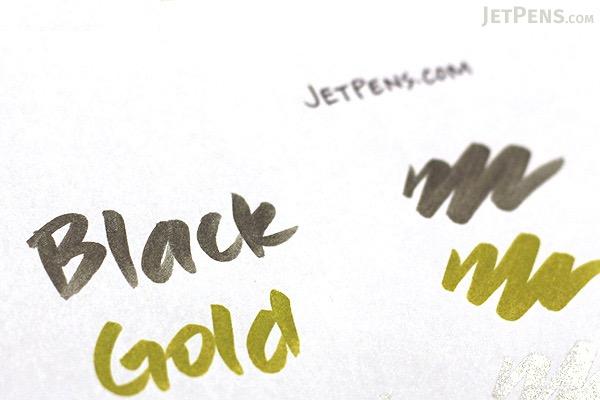 Kuretake Zig Fudebiyori Metallic Brush Pen - Gold - KURETAKE CBK-55MT-101
