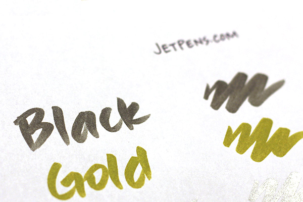 Kuretake Zig Fudebiyori Metallic Brush Pen - Gold - KURETAKE CBK-55MT-101