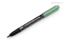 Kuretake Zig Fudebiyori Metallic Brush Pen - Green - KURETAKE CBK-55MT-121
