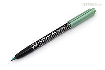 Kuretake Zig Fudebiyori Metallic Brush Pen - Green - KURETAKE CBK-55MT-121