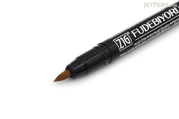 Kuretake Zig Fudebiyori Metallic Brush Pen - Copper - KURETAKE CBK-55MT-123