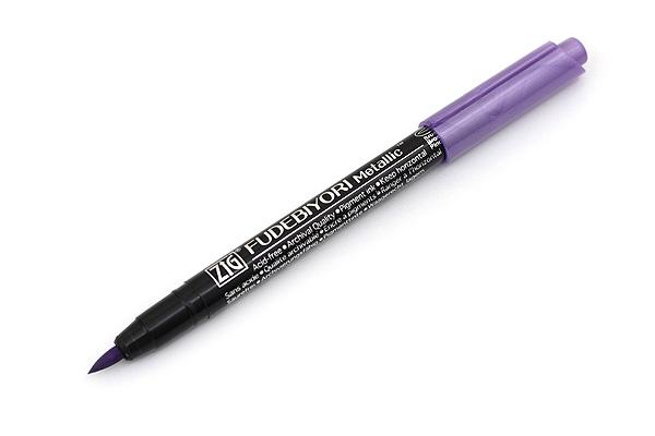Kuretake Zig Fudebiyori Metallic Brush Pen - Violet - KURETAKE CBK-55MT-124
