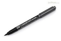 Kuretake Zig Fudebiyori Metallic Brush Pen - Black - KURETAKE CBK-55MT-127