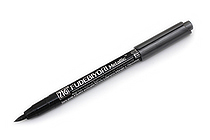 Kuretake Zig Fudebiyori Metallic Brush Pen - Black - KURETAKE CBK-55MT-127