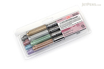 Kuretake Zig Fudebiyori Metallic Brush Pen - 8 Color Set - KURETAKE CBK-55MT/8V