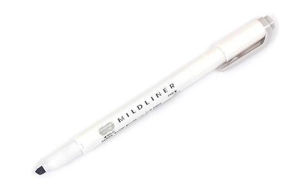 Zebra Mildliner Double-Sided Highlighter - Fine / Bold - Mild Gray - ZEBRA WKT7-MGR