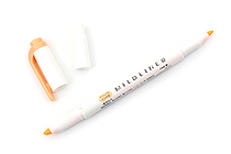 Zebra Mildliner Double-Sided Highlighter - Fine / Bold - Mild Orange - ZEBRA WKT7-MOR