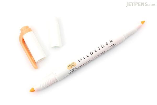Zebra Mildliner Double-Sided Highlighter - Fine / Bold - Mild Orange - ZEBRA WKT7-MOR