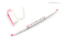 Zebra Mildliner Double-Sided Highlighter - Fine / Bold - Mild Pink - ZEBRA WKT7-MP