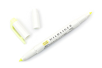 Zebra Mildliner Double-Sided Highlighter - Fine / Bold - Mild Yellow - ZEBRA WKT7-MY