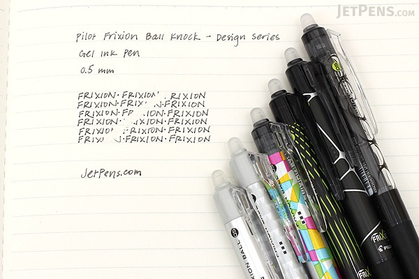 Pilot FriXion Ball Knock Design Series Gel Pen - 0.5 mm - Indicator - PILOT LFBK-23EF-DICB