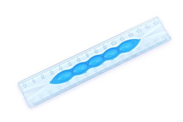Sonic Punyo-suke Ruler - 15 cm - Blue - SONIC SK-534-B