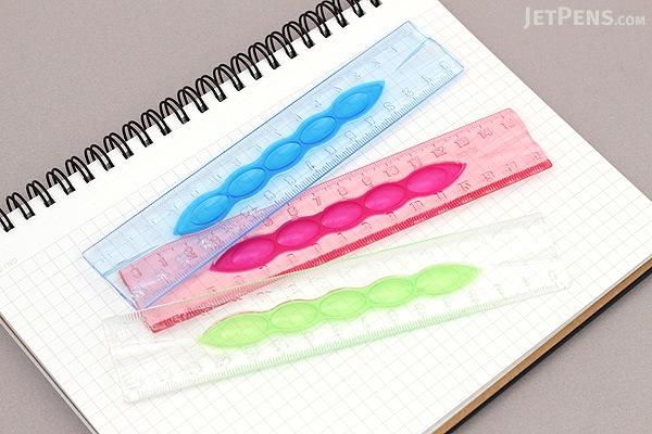 Sonic Punyo-suke Ruler - 15 cm - Pink - SONIC SK-534-P