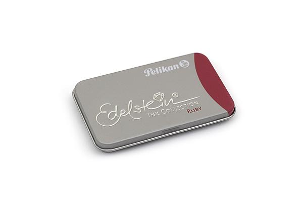 Pelikan Edelstein Fountain Pen Ink Collection Cartridge - Ruby (Dark Red) - Pack of 6 - PELIKAN 339663