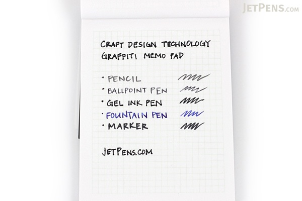 Craft Design Technology Graffiti Memo Pad - A7 - 3 mm Graph - Pale Green - CDT TBPH2-034PG