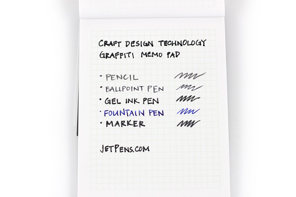 Craft Design Technology Graffiti Memo Pad - A7 - 3 mm Graph - Pale Green - CDT TBPH2-034PG