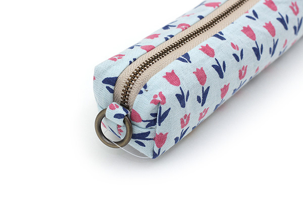 Miyamoto Collection Retro Komon Pen Case - Blooming Flowers - MIYAMOTO 07403