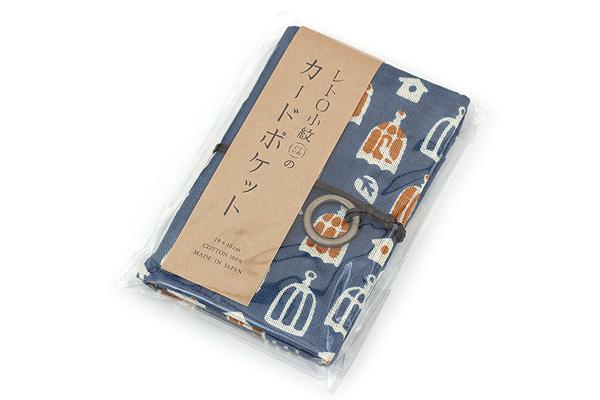 Miyamoto Collection Retro Komon Card Pocket Case - Bird Houses - MIYAMOTO 07356