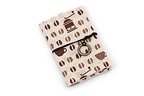 Miyamoto Collection Retro Komon Card Pocket Case - Coffee Beans - MIYAMOTO 07343