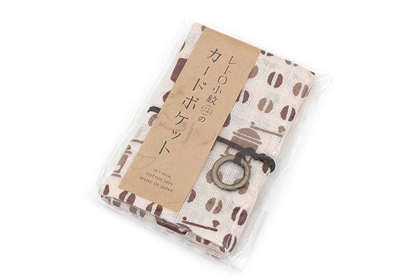 Miyamoto Collection Retro Komon Card Pocket Case - Coffee Beans - MIYAMOTO 07343