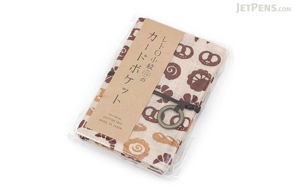 Miyamoto Collection Retro Komon Card Pocket Case - Fresh Bread - MIYAMOTO 07358