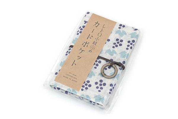 Miyamoto Collection Retro Komon Card Pocket Case - Grapes - MIYAMOTO 07444