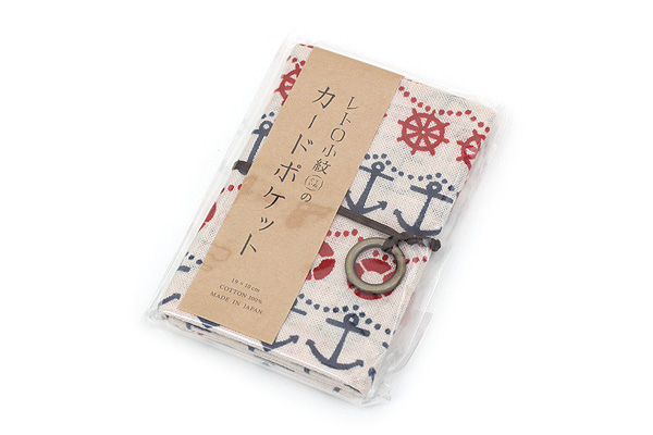 Miyamoto Collection Retro Komon Card Pocket Case - Nautical - MIYAMOTO 07348