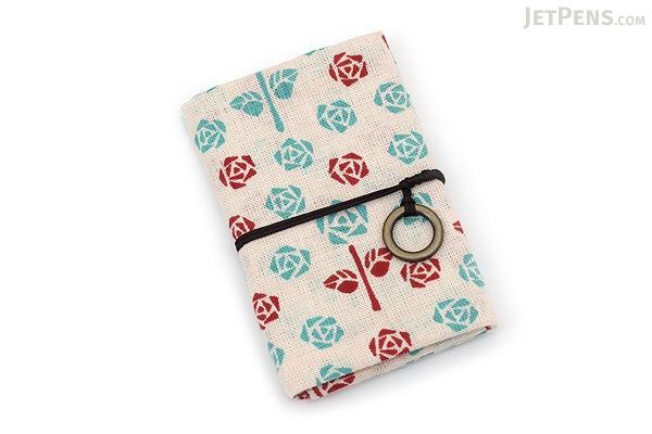 Miyamoto Collection Retro Komon Card Pocket Case - Roses - MIYAMOTO 07346