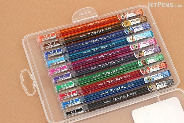 Monami Love Pet Gel Ink Pen - 0.38 mm - 10 Color Set - MONAMI LOVE PET 10