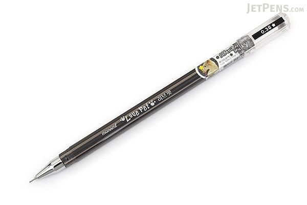 Monami Love Pet Gel Ink Pen - 0.38 mm - Black - MONAMI LOVE PET BK