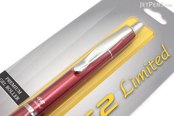 Pilot G2 Limited Metallic Body Gel Pen - 0.7 mm - Red Body - PILOT BG2E7BLK-NRED