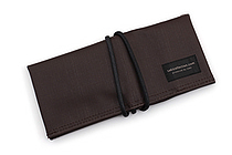 Saki P-667 Roll Pen Case - Japanese Tsumugi - Small - Brown Black - SAKI 667093