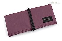 Saki P-667 Roll Pen Case - Japanese Tsumugi - Small - Purple - SAKI 667109