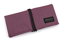 Saki P-667 Roll Pen Case - Japanese Tsumugi - Small - Purple - SAKI 667109