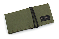 Saki P-667 Roll Pen Case - Japanese Tsumugi - Small - Matcha (Green) - SAKI 667123
