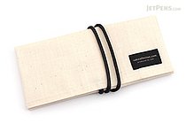 Saki P-667 Roll Pen Case - Japanese Tsumugi - Small - Unbleached (Off-White) - SAKI 667192