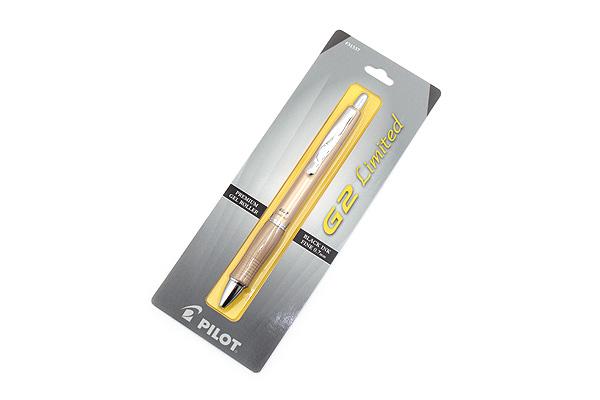 Pilot G-2 Limited Metallic Body Gel Pen - 0.7 mm - Gold Body - PILOT 31537