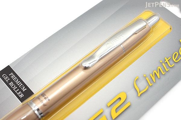 Pilot G2 Limited Metallic Body Gel Pen - 0.7 mm - Gold Body - PILOT BG2E7BLK-NGLD