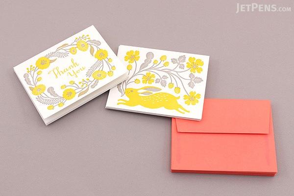 Letterpressed Notecards & Envelopes - Masako Kubo - Pack of 10 - CHRONICLE BOOKS 9781452127569