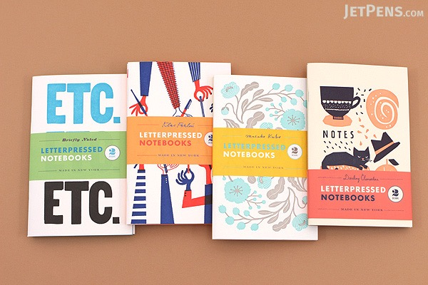 Letterpressed Notebooks - Briefly Noted - Pack of 2 - CHRONICLE BOOKS 9781452127583