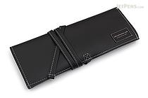 Saki P-660 Roll Pen Case - Leatherette - Medium - Black - SAKI 660018